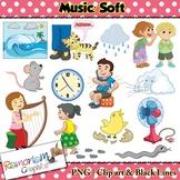Music Concepts: Soft sounds Clip art