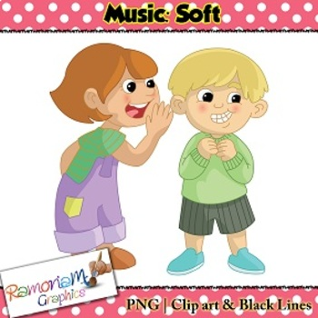 Music Concepts: Soft sounds Clip art