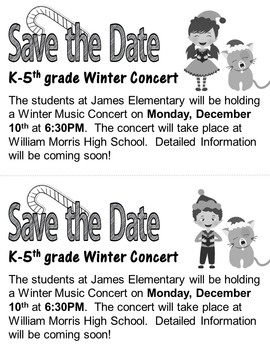 Elementary Christmas Concert #1: Program, letters, lyrics, and more!