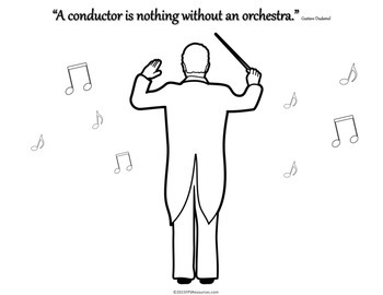 Music Conductor Coloring Pages