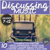 Music- Middle/High School Conversation Starters