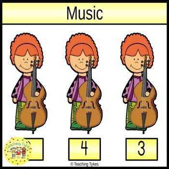 Music Count and Clip Task Cards