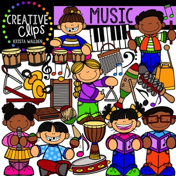 Music {Creative Clips Digital Clipart}