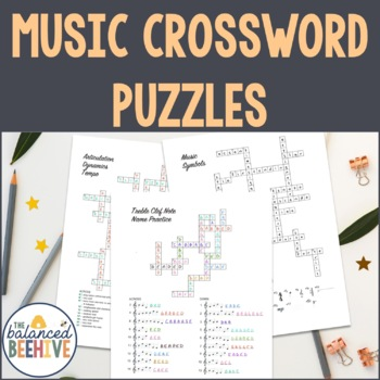 Crossword Puzzle Musical Instrument Teaching Resources Teachers