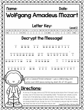 Music Cryptograms- Composer Quotes- Bundled Set