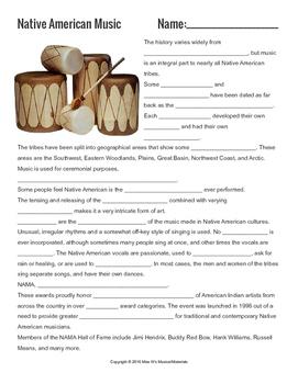 Music Cultures: Native American