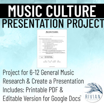 Music Cultures: Presentation Project