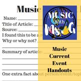 Music Current Event Activity