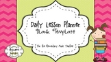 Music Daily Lesson Planner Blank Template