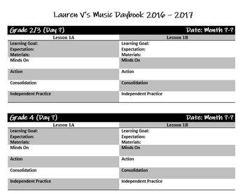 Music Daybook