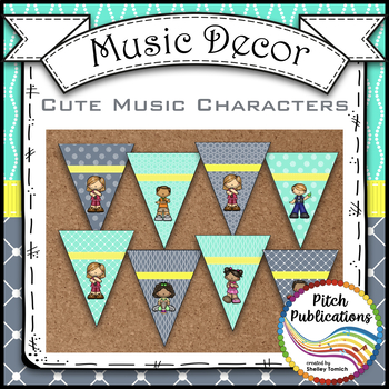 Music Decor - AQUA and GRAY - Welcome to Music Banner!