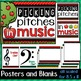 Music Decor: Apple-Themed Pitches Bulletin Board