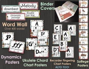 Music Decor BUNDLE - SWEET SHOPPE - Music classroom decorations!