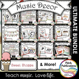 Music Decor BUNDLE - SWEET SHOPPE - Music classroom decorations!