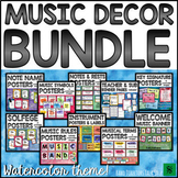 Music Bulletin Board BUNDLE: Watercolor Music Classroom Decor