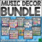 Music Bulletin Board BUNDLE: Editable Watercolor Music Decor
