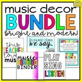Music Classroom Decor Bundle (Bright And Modern)