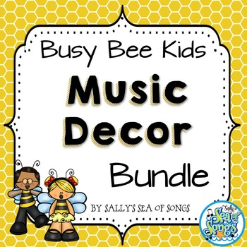 Music Decor Bundle - Busy Bees Kids