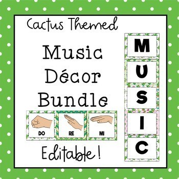 Music Decor Bundle (Cactus Theme) Save 30%