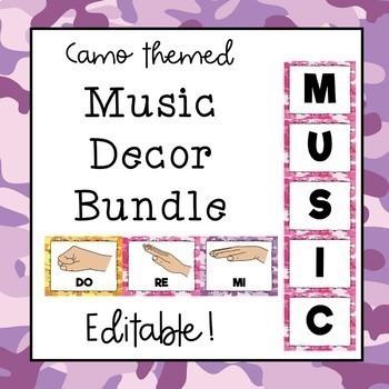 Music Decor Bundle (Camo Theme) Save 30%