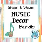 Music Decor Bundle - Ginger & Waves