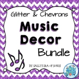 Music Decor Bundle - Glitter & Chevrons