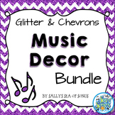 Music Decor Bundle - Glitter & Chevrons