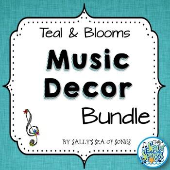 Music Decor Bundle - Teal & Blooms