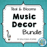 Music Decor Bundle - Teal & Blooms