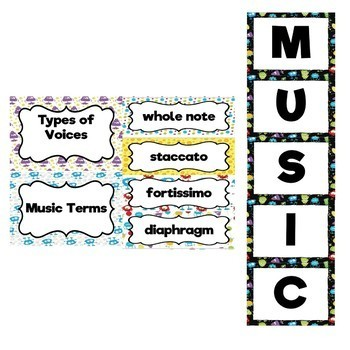 Music Decor Bundle (Monster Theme) Save 30%