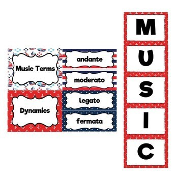 Music Decor Bundle (Nautical Theme) Save 30%