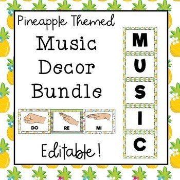 Music Decor Bundle (Pineapple Theme) Save 30%