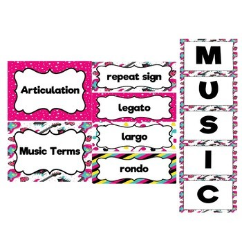 Music Decor Bundle (Rock and Roll Theme) Save 30%