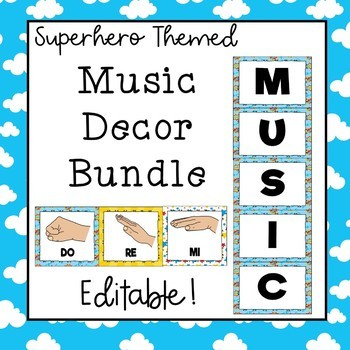 Music Decor Bundle (Superhero Theme) Save 30%