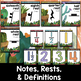 Music Decor: Cactus-Themed Notes and Rests Duration Posters