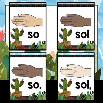 Music Decor: Cactus-Themed Solfege Handsign Posters
