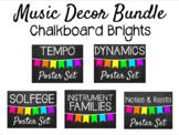 Music Decor - Chalkboard Brights Bundle