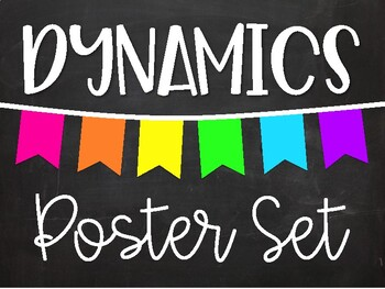 Dynamics Poster Set - Chalkboard Brights