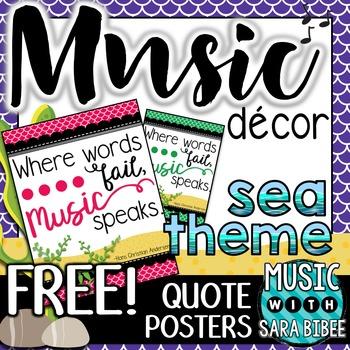 Music Decor: FREE Sea-Themed Music Quote