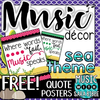 Music Decor: FREE Sea-Themed Music Quote