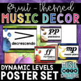 Music Decor: Fruit-Themed Dynamics Posters