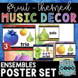Music Decor: Fruit-Themed Ensemble Posters