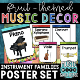 Music Decor: Fruit-Themed Instrument Family Posters