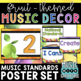 Music Decor: Fruit-Themed Standards and Statements Posters