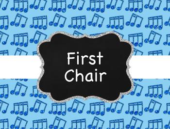 Music Decor: Glitter Behavior Clip Chart for Elementary Music Room