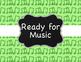 Music Decor: Glitter Music Behavior Clip Chart For Element