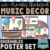 Music Decor: Ice Cream-Themed Ensemble Posters