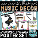 Music Decor: Ice Cream-Themed Instrument Family Posters