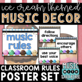 Music Decor: Ice Cream-Themed Music Rules Posters