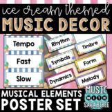 Music Decor: Ice Cream-Themed Music Terms Word Wall